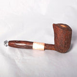 Smoking Pipe - Cherry with echtings, copper & resin stem - Melanie - MH Studios