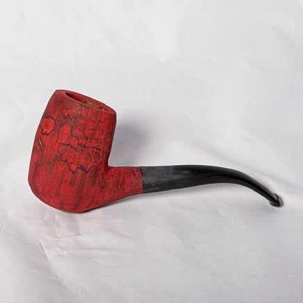 Smoking Pipe - Spalted Maple dyed Red - Melanie - MH Studios