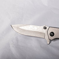 Pocket Knife - Heavy Duty Wood & White Resin scales - Melanie - MH Studios