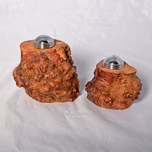 Salt and Pepper Shaker Set - Mountain Laurel Root - Melanie - MH Studios
