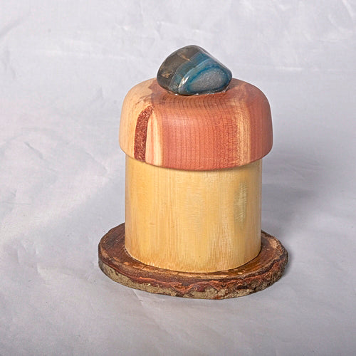 Small Organic Wooden Jewelry Box - Cedar, Pear and Bamboo- # 1 - Melanie - MH Studios