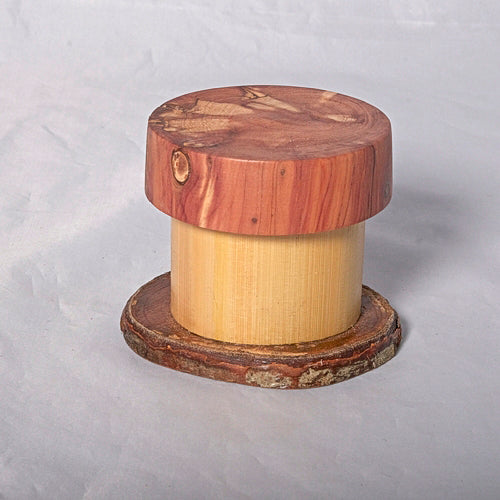 Small Organic Wooden Jewelry Box - Cedar, Pear and Bamboo- # 2 - Melanie - MH Studios