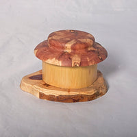 Small Organic Wooden Jewelry Box - Cedar and Bamboo- # 7 - Melanie - MH Studios