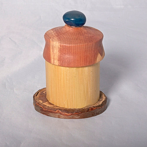 Small Organic Wooden Jewelry Box - Cedar, Pear and Bamboo- # 15 - Melanie - MH Studios