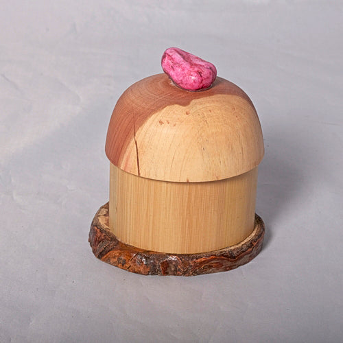 Small Organic Wooden Jewelry Box - Cedar, Pear and Bamboo- # 13 - Melanie - MH Studios