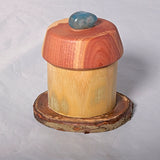 Small Organic Wooden Jewelry Box - Cedar, Pear and Bamboo- # 16 - Melanie - MH Studios