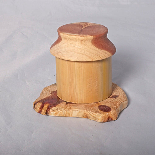 Small Organic Wooden Jewelry Box - Cedar and Bamboo- # 10 - Melanie - MH Studios