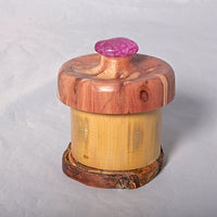 Small Organic Wooden Jewelry Box - Cedar, Pear and Bamboo- # 11 - Melanie - MH Studios