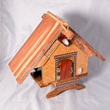 Clock House - Lebanon Cedar roof with Spalted maple face and black hands - Melanie - MH Studios