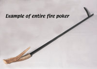 Antler Handle fireplace poker #1 - Melanie - MH Studios