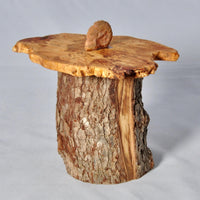 Natural Wooden pet urn,  - 7/8 cup volume - Melanie - MH Studios