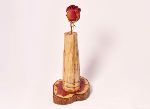 Bud Vase - Spalted Maple and Lebanon Cedar - Melanie - MH Studios