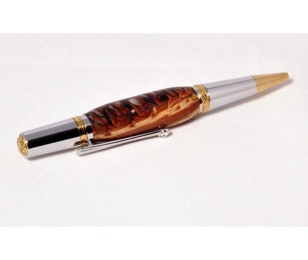 Pen - Majestic Squire Gold TN and Chrome Ballpoint Twist Pen #5 - Melanie - MH Studios