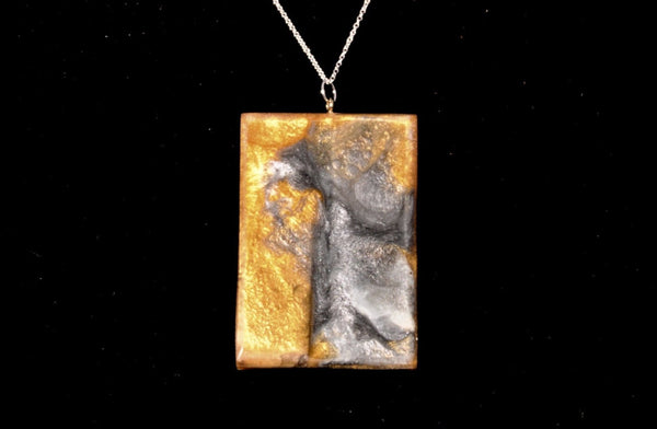 Necklace - Burl and gold and Silver Pearlex, choker style - Melanie - MH Studios