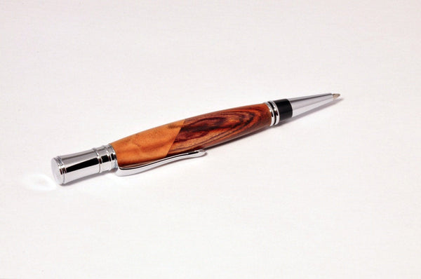 Pen - Executive Chrome Twist Pen with Gondillo and Maple - Melanie - MH Studios