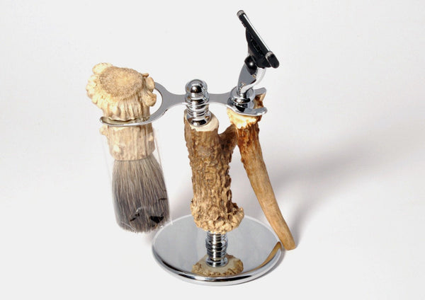 Shaving tools - Antler Shed Saving Set 2, made with 3 Antler Crowns and 1 tyne - Melanie - MH Studios