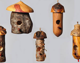 Small bird House Hummingbird House - Holly tree wood, knotty Cherry and Spalted Maple - Melanie - MH Studios