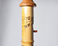 Small Birdhouse - Hummingbird House - Bamboo with music cleft carving - Melanie - MH Studios