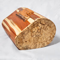 Box - Roll top styled bow Cedar and Spalted Maple - Melanie - MH Studios