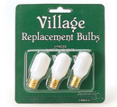 Village Replacement Bulbs set of 3, 5 watts