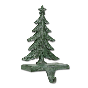 Green Tree Stocking Holder