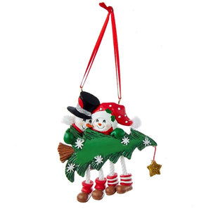 Snow tree Family of 2 ornament