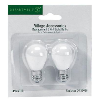 village replacement 3 v light bulbs set of 2