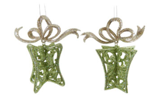 Green Gift Ornament w/Bow