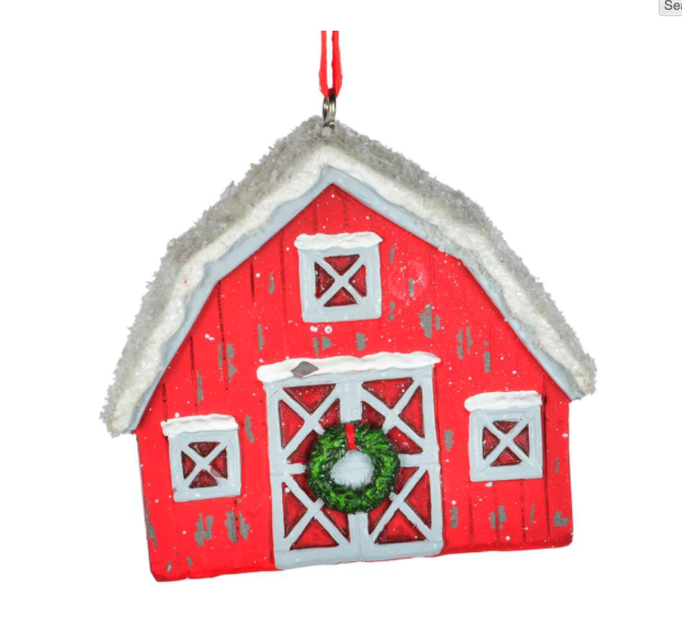 RED BARN ORNAMENT