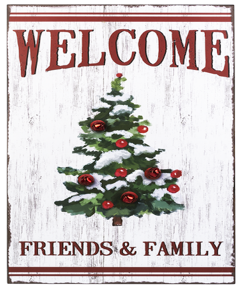 Welcome Jingle Bell Sign