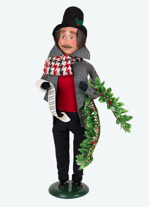 Evergreen man caroller
