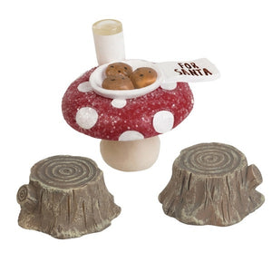 Mushroom cap cookies gnome figure accessory set of 3