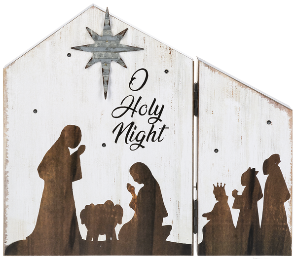 Nativity Hinged Plaque