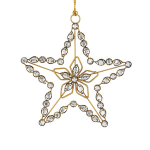 Gold Crystal Star Ornament