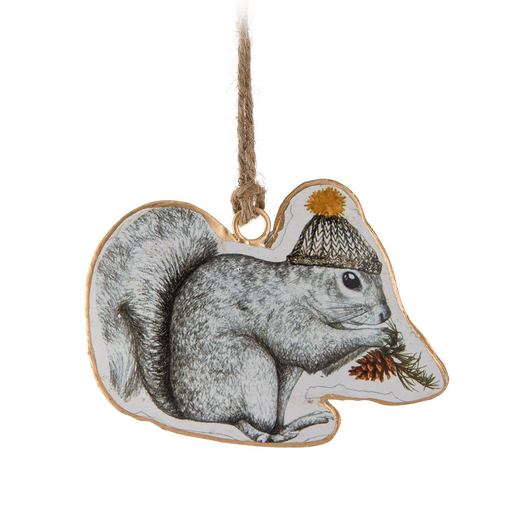 Vintage Squirrel in Hat Ornament