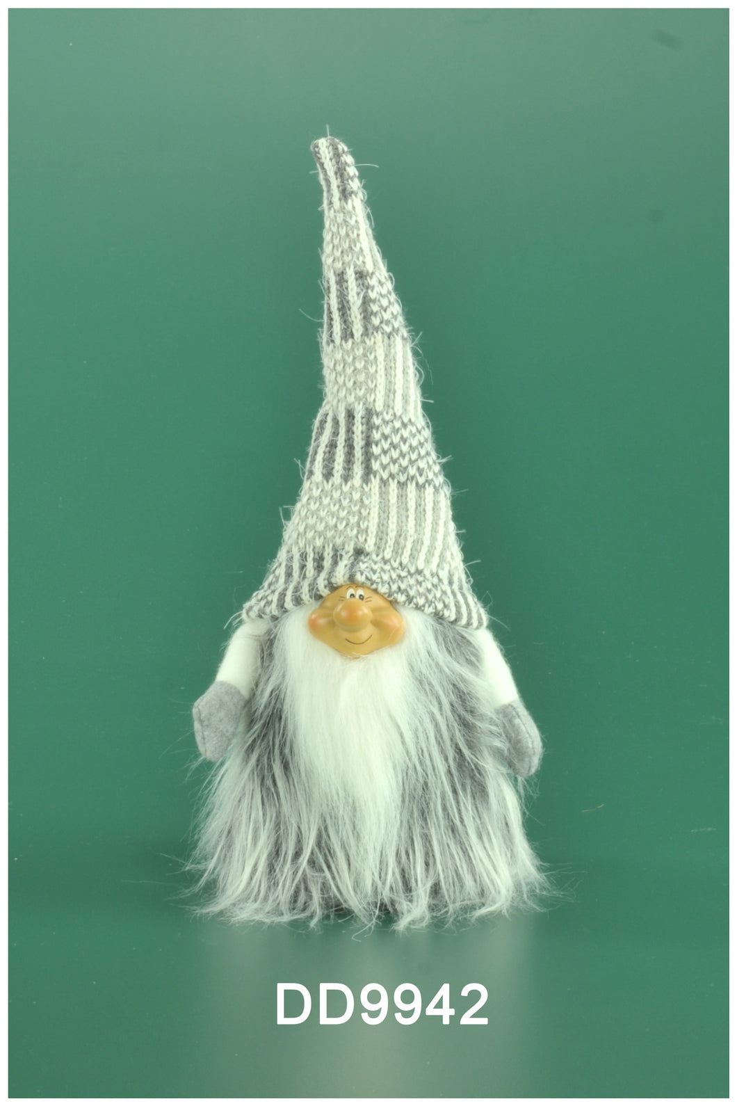 Grey Faux Fur Gnome 13