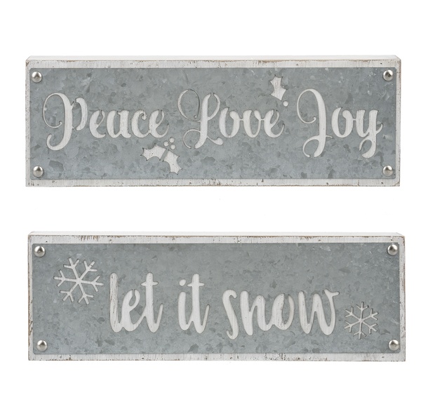 Rustic Galvanized Signs
