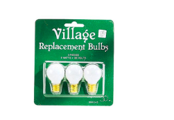 village replacement bulbs set of 3 round