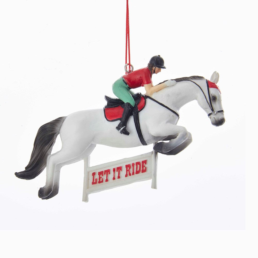 Let It Ride Jumping Horse Ornament