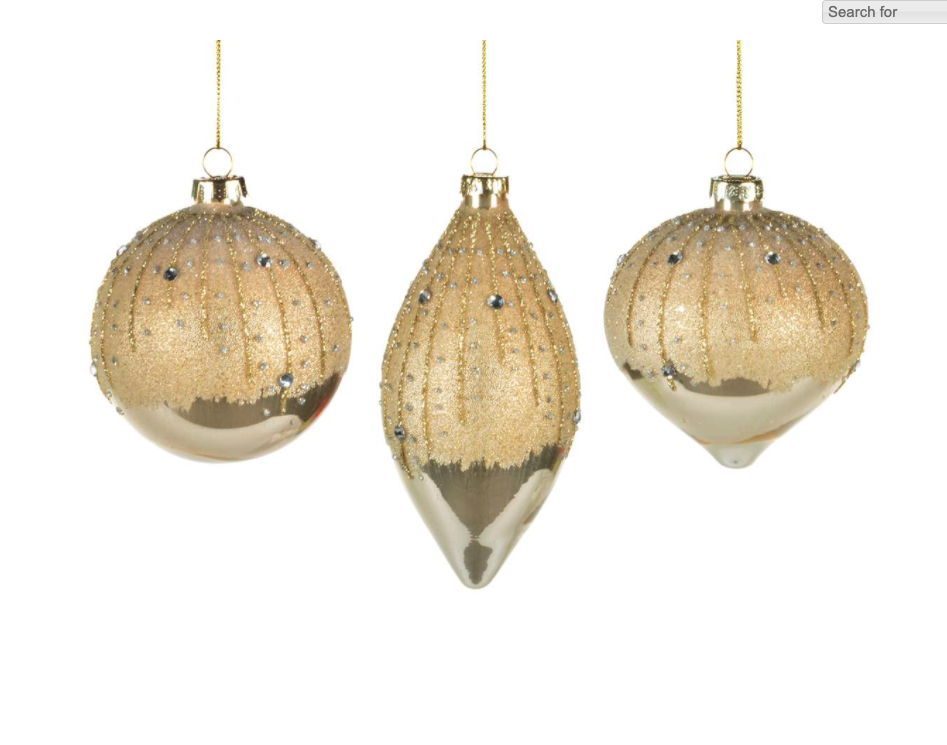 Frosted Champagne Ball Ornament