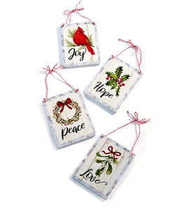 Small Sign Ornaments - 4 styles