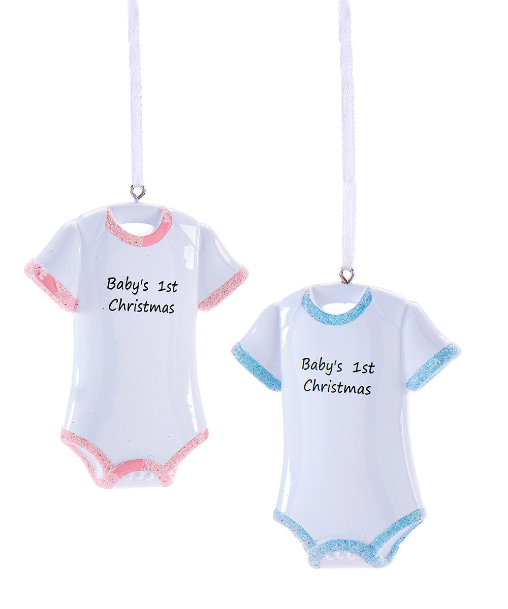 Babies First Onsie Ornament 2Asst