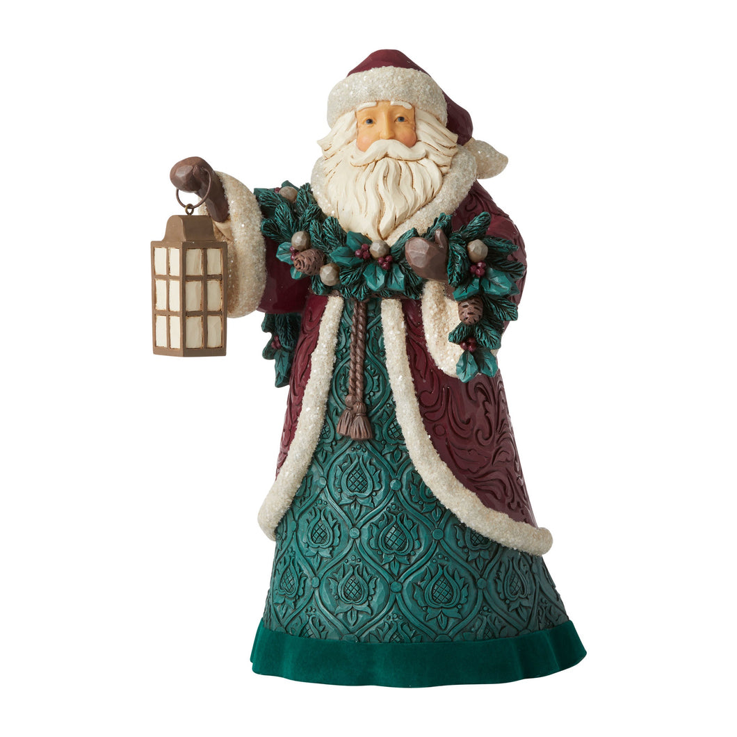 Jim Shore Victorian Santa with Garland
