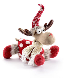 Red and White Polka Dot Moose