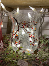 Load image into Gallery viewer, Fluted Glass Winterberry Vase