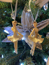 Load image into Gallery viewer, Gold and Glitter Ballerina Ornament