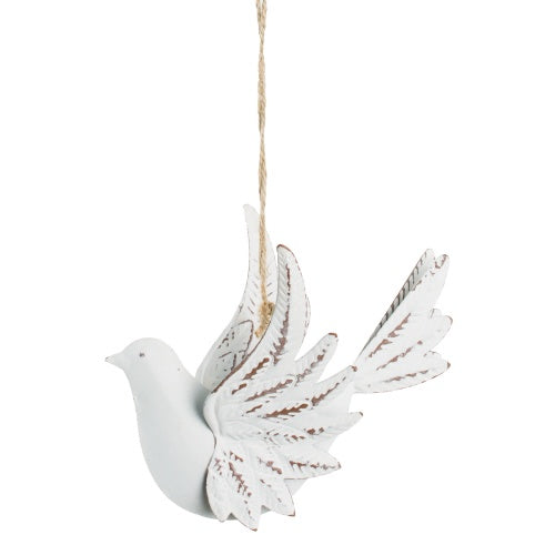 Stamped Metal 3D Dove Ornament