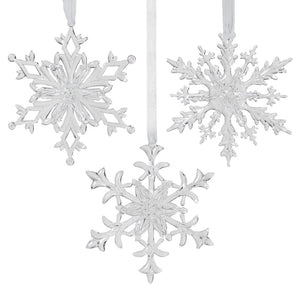 Sm Clear 3D Snowflake ornament