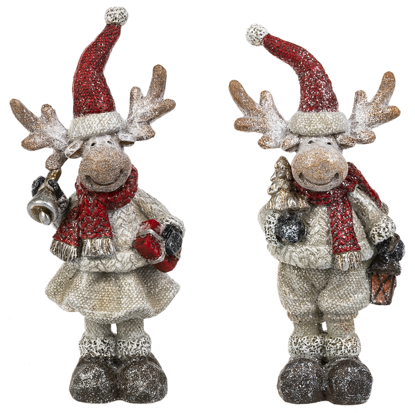 Merry Chris-moose Figurines