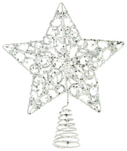 Load image into Gallery viewer, Glittered Star Tree Topper